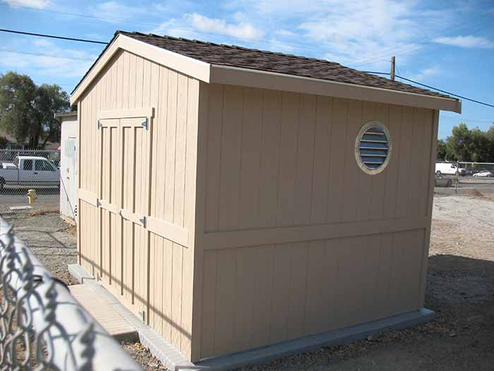 Our bare cement pad with pumps and equipment needed a secure shelter. Alameda County Water District