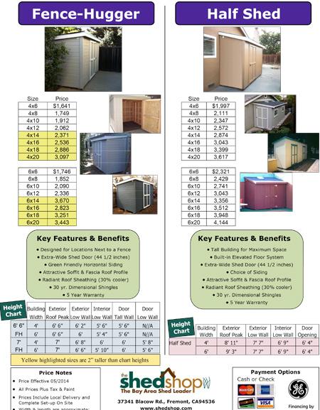 Fence Hugger / Half Shed Brochure
